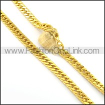 Graceful Golden Plated Necklace n000664