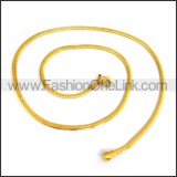 Succinct Golden Plated Necklace n001196