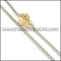 Delicate Silver Stamping Necklace n000647