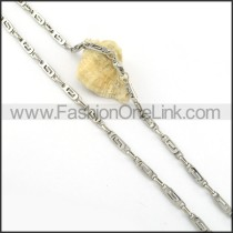 Simple Silver Stamping Necklace    n000304