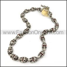 Stainless Steel Skull Necklace       n000205