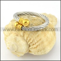 Stainless Steel Classic Rope Ring r000581