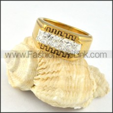 Stainless Steel Great Wall Ring r000255