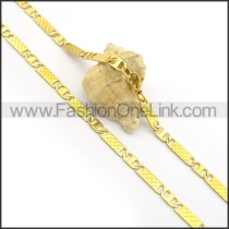 Gold Interlocking Rectangle Plated Necklace n000914