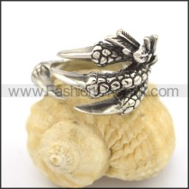 Stainless Steel Casting Claw Ring  r002277