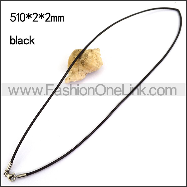 Black Rubber Necklace n001182