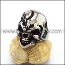 Delicate Stainless Steel Skull Ring  r003161