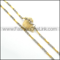 Chic Gold and Silver Plated Necklace n000767
