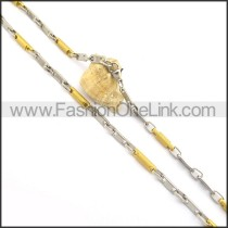 Graceful Gold and Silver Plated Necklace n000769