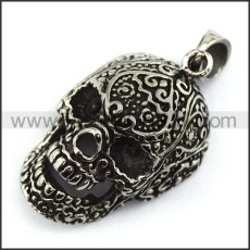 Exquisite Stainless Steel Skull Pendant   p003996