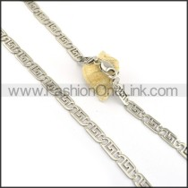 Good Quality Silver Stamping Necklace n000603