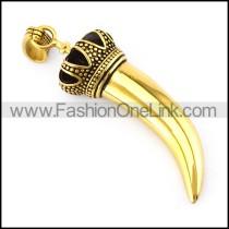Golden Medium Stainless Steel Horn in 6.3cm Long p005536