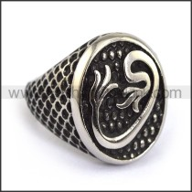 Exquisite Stainless Steel Casting Ring r003597