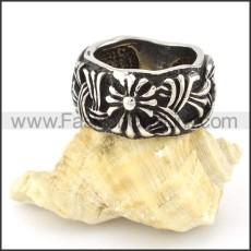 Stainless Steel Cross Ring  r000550