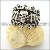 Stainless Steel Bat Skull Ring r001131