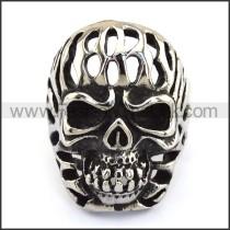 Stainless Steel Skull Ring  r003712