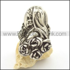 Stainless Steel Skull Ring r002039