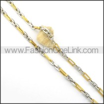 Exquisite Golden and Silver Plated Necklace n000536
