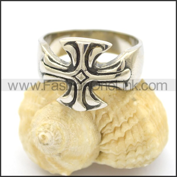 Delicate Cross Stainless Steel Ring r002403