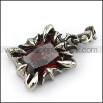 Prong Setting Stainless Steel Stone Pendant   p003907