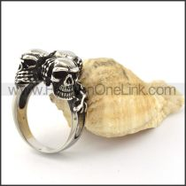 Three Skull Heads  Casting Ring r001018