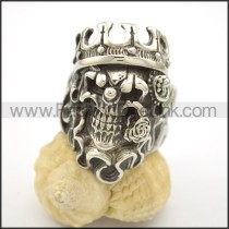Unique Stainless Steel Skull Ring  r002523