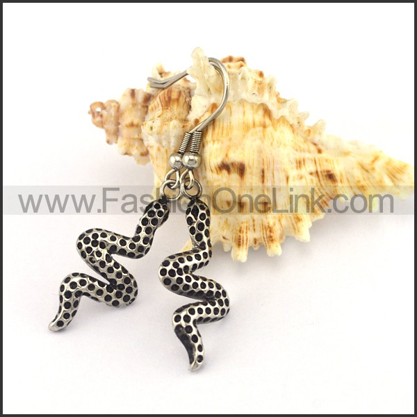 Silver Snake Earrings   e001183