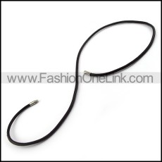 Succinct Leather Necklace n000984