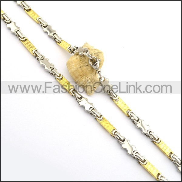 Delicate Gold and Silver Plated Necklace n000765