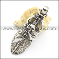 Wicked Stainless Steel Skull  Pendant   p001709