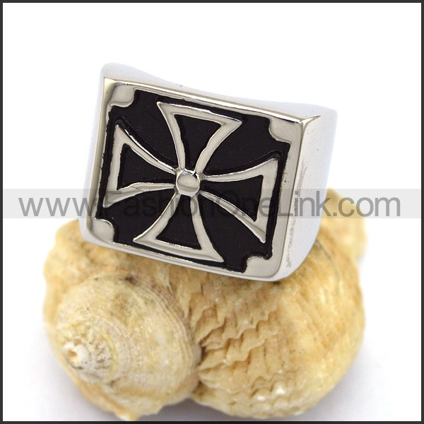 Stainless Steel Cross  Ring r003371
