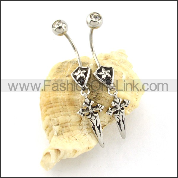 Exquisite Stainless Steel Cross Earrings   e000434