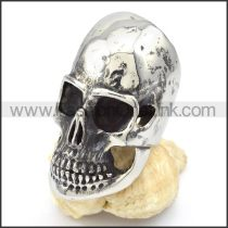 Stainless Steel Classic Skull Ring r000318