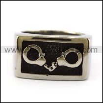 316L Stainless Steel Handcuffs Ring r004879