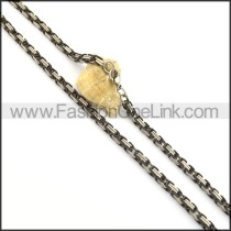 Exquisite Black and Silver Plated Necklace n000814