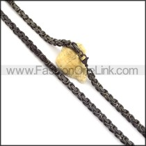 Delicate Black Plated Necklace n000716