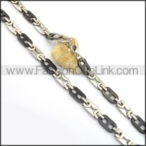 Black Flat Number 8 Plated Necklace n000845