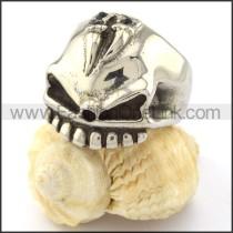 Stainless Steel Wicked Skull RIng r000741