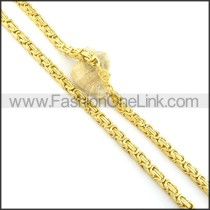 Graceful Golden Plated Necklace n000566