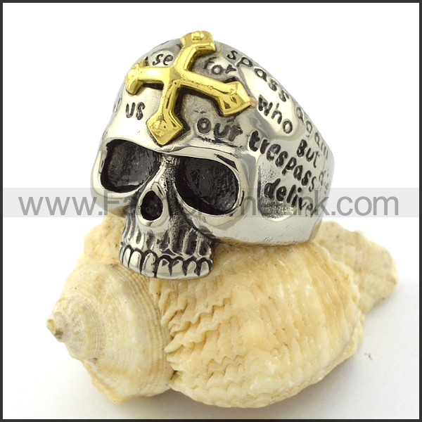 Stainless Steel Skull Ring r001057