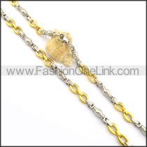 Delicate Gold and Silver Plated Necklace n000773