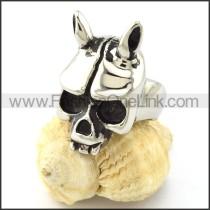 Stainless Steel Skull Ring r000976