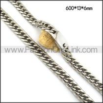 Silver Stamping Necklace n001116