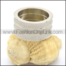 Exquisite Stone Stainless Steel Ring  r002190