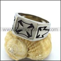 Stainless Steel Cross Ring  r003304