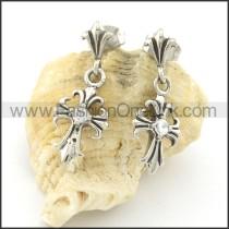 Elegant Stainless Steel Stone Earrings    e000656