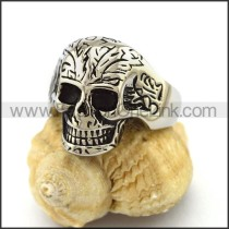 Delicate Stainless Steel Skull Ring  r003167