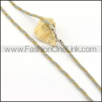 Two Tone Twisted Rope Fashion Necklace   n000230
