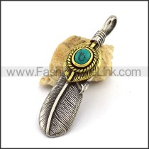 Delicate Stainless Steel Casting Pendant   p003039