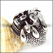 Stainless Steel King of Skull Ring r000261